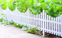 Wholesale 24Inch Inch Inch Small White Fence Plastic Fence Garden Fencing Garden Buildings Garden Decoration Lawn