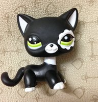Wholesale LITTLEST PET Animals Collection LPS Figure For Girl Children Black Short Hair Cat DWA261