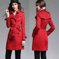 ask long - Hot Sales Women Long Heritage Trench Coat Ask Gabardine Cotton Comfortable Classical Top Fashion Original Designer Brand New BC1169