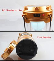battery powered fluorescent light - Buy Cheapest Solar Power Rechargeable LED Camping Lantern Light Black x AA YJM G80 with DC Popular Among Southeast Asia