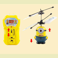 best rc plane - Despicable ME One Eye and Two Eyes Minion RC Helicopter Remote Control Plane Toy with good packing Best Gift