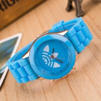 ad table - 2016 Fashion Unisex Sport Watch ad Silicone watches Women Clover Dress WristWatches Quartz watch Reloj Mujer Casual female table