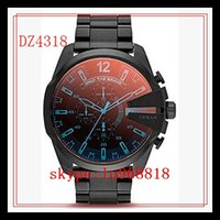 best black watch - TOP QUALITY BEST PRICE Mens Watch DZ4305 DZ4318 DZ4323 DZ4343 Blue Galss Watch Quartz Chronograph Mens Limited Edition Watch