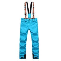 Wholesale women s winter Professionals skiing bib pant waterproof windproof amp thermal hiking and camping trousers