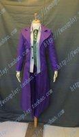 batman games arkham - Batman Arkham Asylum Joker Cosplay Costume set Custom two cost pant vest skirt tie