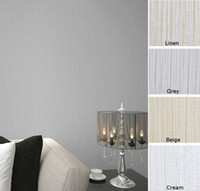 background color grey - Gill Ribbed Plain Solid Color Wall Paper Vinyl Natural Faux Grasscloth Wallpaper Bedroom Hotel Background Decor Beige Grey