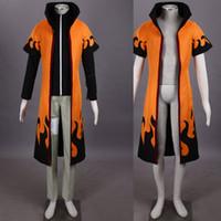 Compra Capas superiores del traje-Personaje de dibujos animados HOT NARUTO Uzumaki Naruto cuarta generación cosplay traje traje traje completo