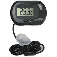 Wholesale LCD Digital Fish Tank Aquarium Temperature Thermometer Water Terrarium Black