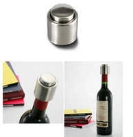 best wine stoppers - Wine Stopper Stainless Steel Vacuum Sealed Red Wine Bottle Stopper Pump Inside Super Easy to Keep Your Best Wine Fresh