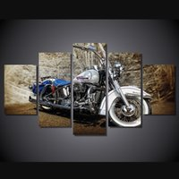 beautiful islam - 5 HD Printed Beautiful Motorcycle Painting Canvas Print room decor print poster picture canvas islam paintings