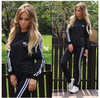 Wholesale New desinger tracksuits piece set Women Letter Pink Print Sport Suit Hoodies Sweatshirt Pant Jogging suits Sportswear pc Set active wear