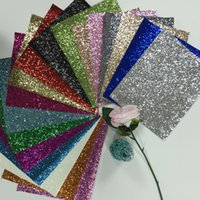 Wholesale 18Pcs X30cm Chunky Glitter Leather PU glitter Fabric for DIY Sewing Cushions Pillow Decoration Glitter Wallpaper