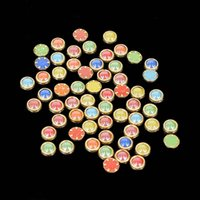 Wholesale 1000pcs mm D Ceramics Edge Round Shape Half Beads Nail Art Pearl White And Mixed Color Beads DIY Craft Styling