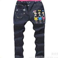 Wholesale Blue Soft Denim Pants Girl Jeans Children Pants kids Casual Pants Spring Autumn Trousers Fashion Girl Jeans Y Y