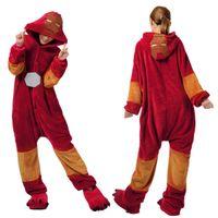 al por mayor mameluco hombre de hierro-Superhéroe Iron Man Anime Cosplay de la película Hombres Mujeres Onesie adulto pijama de la ropa de noche del mono del mameluco