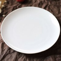 Wholesale Bone china plates western food plate pure white bone china plates round shape quot quot quot shallow type plates bread dishes luxury gift