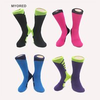 ankle terry socks - Womens Mens Unisex brand new USA professional elite compression thermal Thick long knee high Cotton Socks sport outdoor bottom terry socks