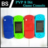 Wholesale New PVP Handheld Game Console inch LCD PVP Bit Video TV Game Player Retail Box Free Game Card For Kids Gifts