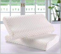 Wholesale 2016 new White x50 Slow Rebound Memory Foam Pillow Cervical Health Care Neck Pain Slow Rebound Space Memory Foam Pillow Bamboo Pillow