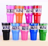 Wholesale YETI oz Stainless Tumbler oz oz oz Clear Lid Rambler Cups Yeti Coolers Cup Yeti Sports Mugs Large Capacity Stainless Steel Mug