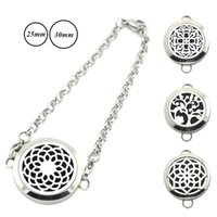 Wholesale mm mm silver magnetic aromatherapy locket bracelet L stainless Steel sunflower Perfume Diffuser Locket bracelet