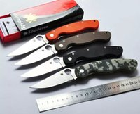 high quality knives - high quality Spyderco C36 Folding Knife Cr13Mov HRC Blade G10 Outdoor Camping Knife