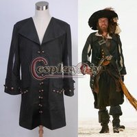 barbossa costume - Pirates of the Caribbean Barbossa Jacket Halloween Cosplay Costume Custom Made D1028