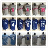 Wholesale Discount Kansas City Royals Jerseys Mike Moustakas Men s MLB Baseball Jerseys Cool Base Salvador Perez Stitched GREY Pink Wede Davis