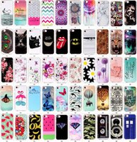 Cheap 50 designs Beautiful print Elephant flower banana leopard print butterfly Soft TPU Phone cover case for iphone 7 7G iphone7 plus