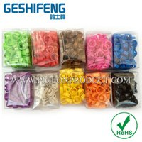 Wholesale plastic open rings mm for pigeon number from colors