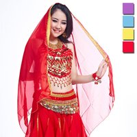 bellydance accessories - Hot Sales New Women Belly Dance Performing Head Yarn Stage Chiffon Veil Cm Bellydance Accessories UA0092 salebags