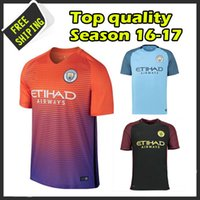Wholesale New arrived Manchester citys Soccer Shirt Thail quality camisetas maillots de foot United embroidery logo
