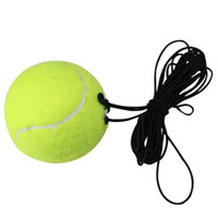 Wholesale FANGCAN No Logo Natural Rubber Single Playing Training Self Rebounce Meter Tennis Ball with Elastic