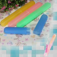 Wholesale New Multicolor Travel Toothbrush Portable Holder Case Antibacterial Protecting Box Pure Color Tube Cover