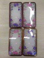 For Samsung apple blossom rose - For Iphone S Plus I6S Flower Blossom Electroplating Chromed gen Bling Diamond Soft TPU Case Luxury Rose Metallic Plating Skin