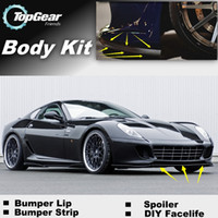 Wholesale Bumper Lip Lips For Ferrari GTB Fiorano Front Skirt Deflector Spoiler For Car Tuning The Stig Recommend Body Kit Strip