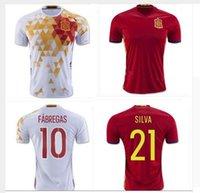 Wholesale Spanish football jersey football jersey Spain in white red shirt torres jersey football chandal FABREGAS XAVI
