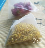 angle mesh - Imported nylon mesh triangle package four package Pyramid tea bag bag angle transparent empty bag cm100