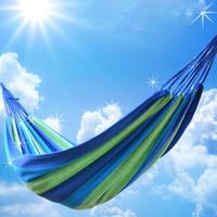 2016 Bigger été de haute qualité Portable Outdoor Garden Hammock Accrochez BED Voyage Camping Balançoire Livraison gratuite Toile Stripe