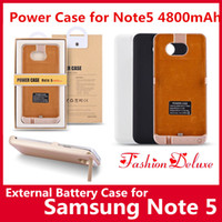 battery mold - External Battery Case Power Case for Samsung Note5 Hotsale Portable Backup Charger Case mAh Private Mold Battery Cases for Note