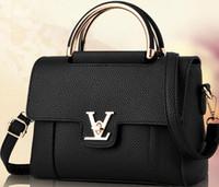 bags pink stone - Leather handbag small bag new fashion Kangaroo Mona Lisa European and American fashion shoulder bag Messenger bag