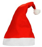 Wholesale Christmas Decoration Hats High grade Christmas Hat Santa Claus Hat Cute Children Kids Adults Non Woven X Mas Party Cosplay Hats