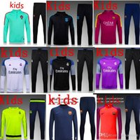 Wholesale 20162017 real madrid Tracksuits top quality Training suit BENZEMA JAMES BALE kids PSG juve Atletico Madrid Chelsea football Tracksuits