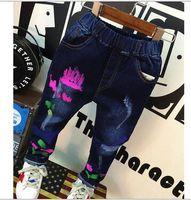 Wholesale children s pants children autumn new fashion graffiti boy s jeans
