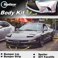 Wholesale Bumper Lip Lips For Ford Probe MK2 Front Skirt Deflector Spoiler For Car Tuning The Stig Recommend Body Kit Strip