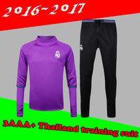 Wholesale 2016 survetement football Portugales Real Madrid training suit tracksuit maillot de foot camisetas chandal futbol pants jogging jerseys