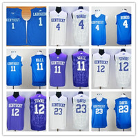 anthony davis jersey - 2016 Kentucky Wildcats John Wall Anthony Davis College Jerseys Rajon Rondo Skal Labissiere Karl Karl Anthony Towns Blue White