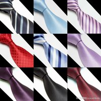 Wholesale HOT Men s Tie Marriage Neck Tie SILK colors for Father s Day Men s business tie Christmas Gift Free DHL
