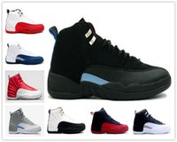 Cheap Online 2016 Wholesale Cheap New Brand HOT Sale Retro 12s Men Basketball Shoes Wolf Grey blue sports sneakers Training 12 Athletic boots