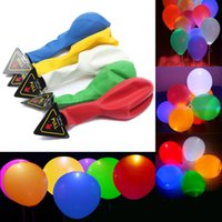 balloons sell - Hot selling Flashing Balloon Inch New Colorful LED Light Round Latex Balloon Wedding Party Celebration Bar Performance Scene Decorations